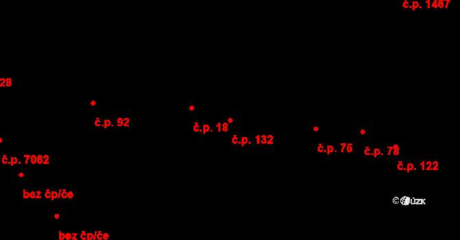Zlín 132 na parcele st. 249 v KÚ Zlín, Katastrální mapa