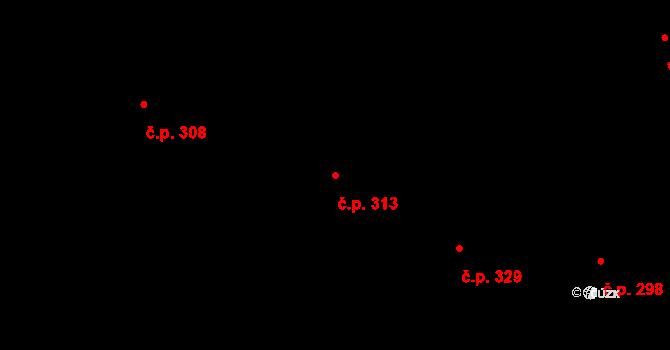 Nová Role 313 na parcele st. 1337 v KÚ Nová Role, Katastrální mapa