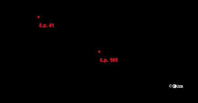 Rodvínov 100 na parcele st. 235 v KÚ Rodvínov, Katastrální mapa