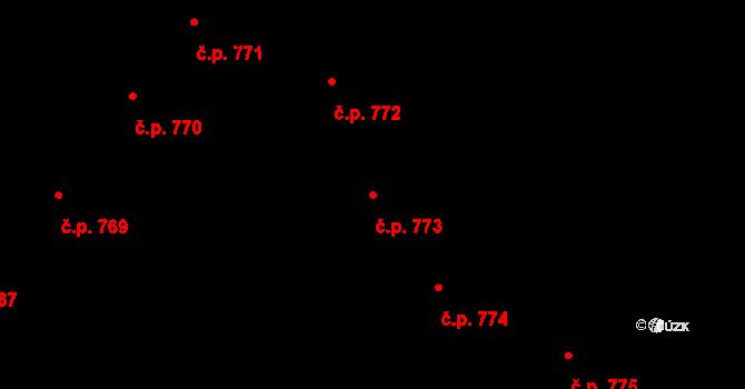 Nové Město 773, Praha na parcele st. 611 v KÚ Nové Město, Katastrální mapa