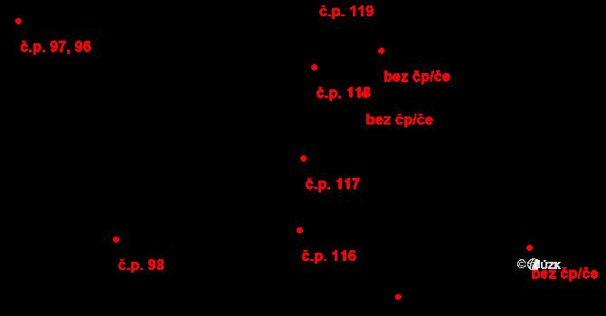 České Budějovice 7 117, České Budějovice na parcele st. 293 v KÚ České Budějovice 7, Katastrální mapa
