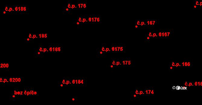 Mladcová 175, Zlín na parcele st. 254/2 v KÚ Mladcová, Katastrální mapa