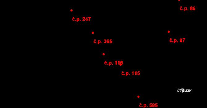 Kobylí 116 na parcele st. 129/2 v KÚ Kobylí na Moravě, Katastrální mapa