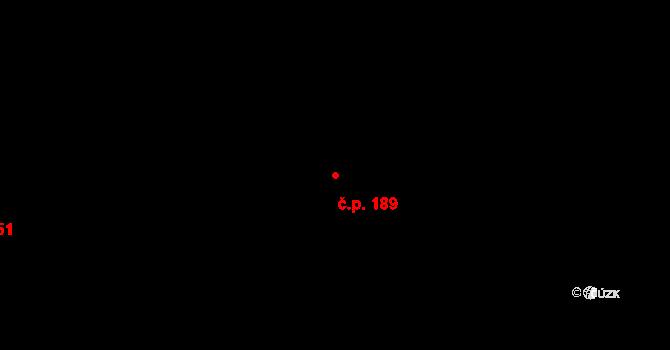 Žirovnice 189 na parcele st. 606/1 v KÚ Žirovnice, Katastrální mapa