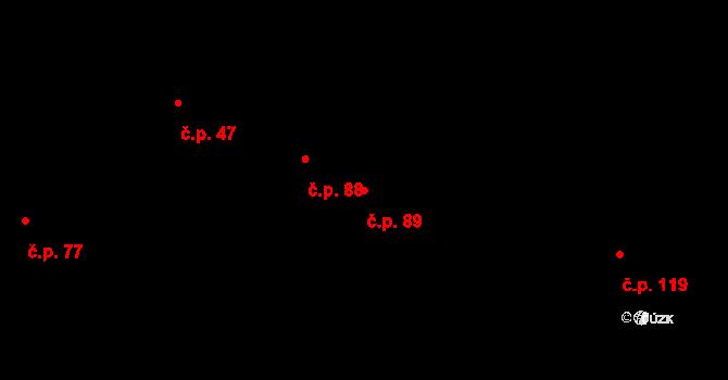 Nový Svět 89, Olomouc na parcele st. 74 v KÚ Nový Svět u Olomouce, Katastrální mapa