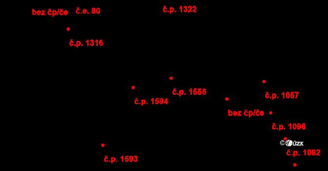 Aš 1556 na parcele st. 1693 v KÚ Aš, Katastrální mapa
