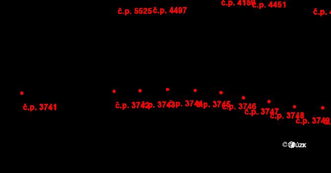 Jihlava 3744 na parcele st. 5375/32 v KÚ Jihlava, Katastrální mapa