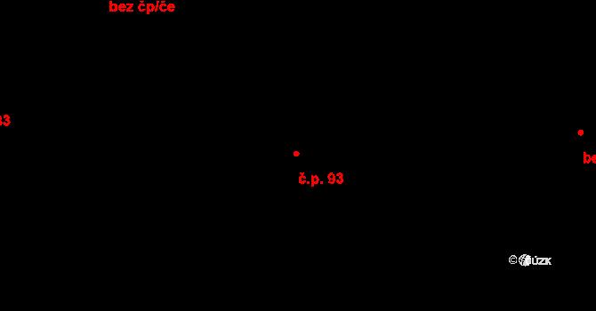 Nebušice 93, Praha na parcele st. 556/2 v KÚ Nebušice, Katastrální mapa