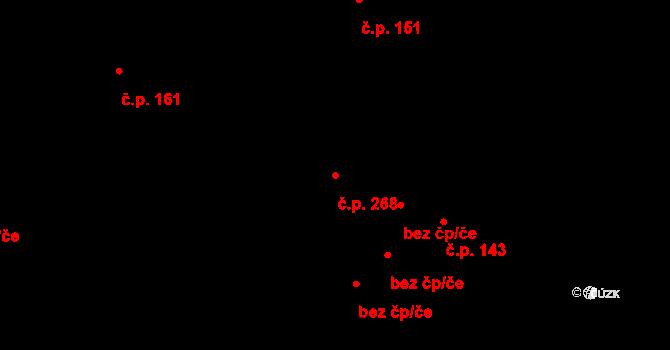 Liberec XXXII-Radčice 268, Liberec na parcele st. 369 v KÚ Radčice u Krásné Studánky, Katastrální mapa