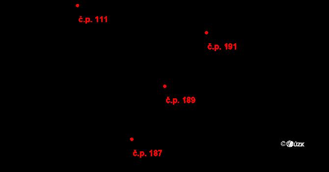 Plavsko 189 na parcele st. 254 v KÚ Plavsko, Katastrální mapa