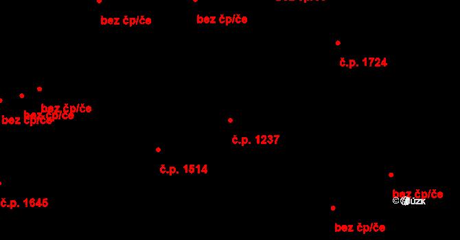 Nový Jičín 1237 na parcele st. 500/1 v KÚ Nový Jičín-Dolní Předměstí, Katastrální mapa