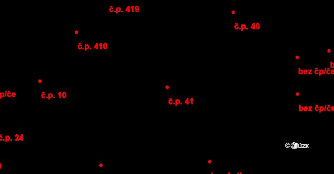 Lednice 41 na parcele st. 481 v KÚ Lednice na Moravě, Katastrální mapa
