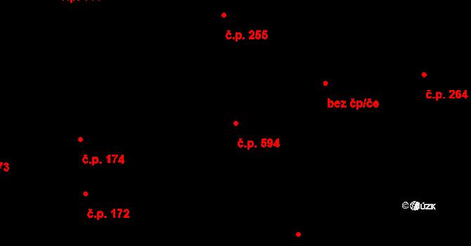 Brno-město 594, Brno na parcele st. 488 v KÚ Město Brno, Katastrální mapa