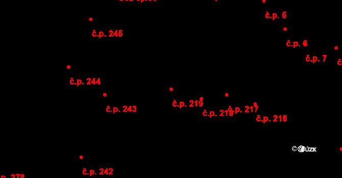 Vysoké Mýto-Město 219, Vysoké Mýto na parcele st. 268 v KÚ Vysoké Mýto, Katastrální mapa