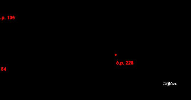 Velíková 228, Zlín na parcele st. 691 v KÚ Velíková, Katastrální mapa