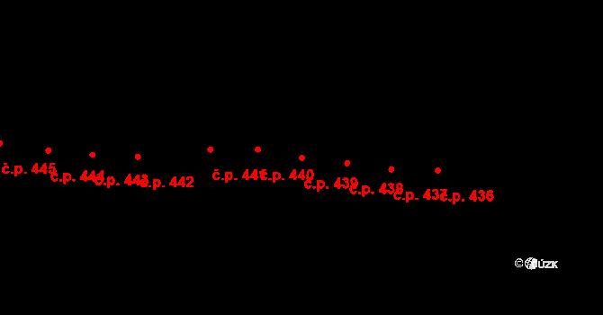 Horní Těrlicko 439, Těrlicko na parcele st. 739 v KÚ Horní Těrlicko, Katastrální mapa