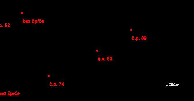 Řež 63, Husinec na parcele st. 193 v KÚ Husinec u Řeže, Katastrální mapa
