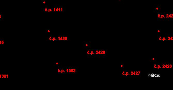 Vinohrady 2428, Praha na parcele st. 2525 v KÚ Vinohrady, Katastrální mapa