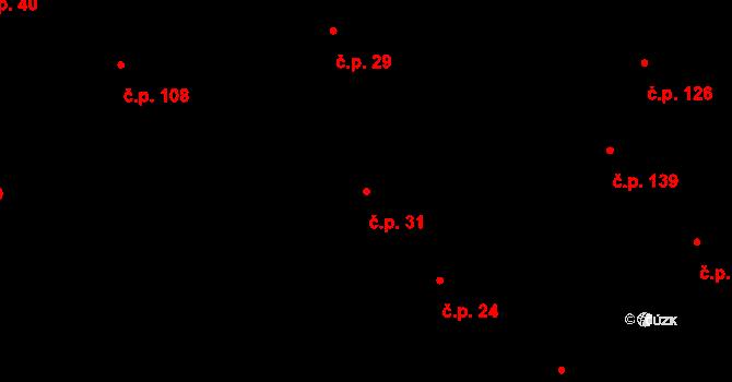 Lípa 31 na parcele st. 51 v KÚ Lípa nad Dřevnicí, Katastrální mapa