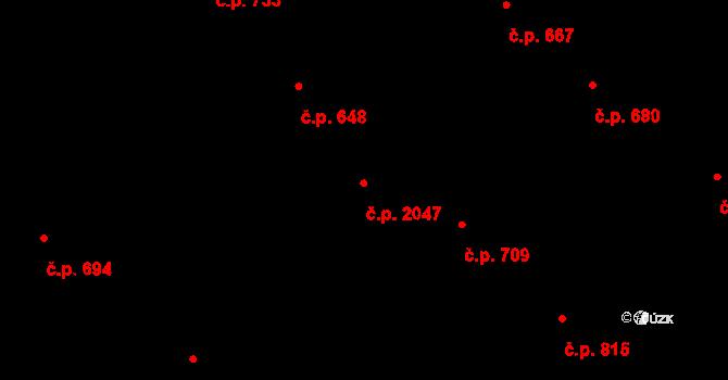 Čelákovice 2047 na parcele st. 4658 v KÚ Čelákovice, Katastrální mapa