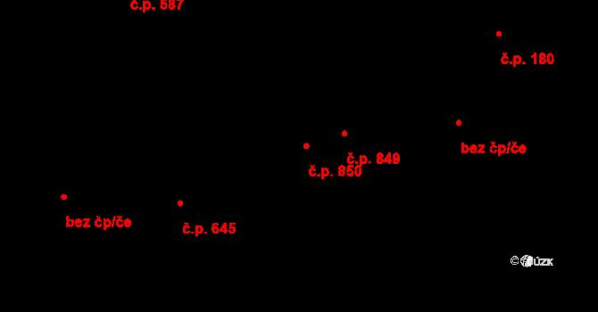 Liberec XII-Staré Pavlovice 850, Liberec na parcele st. 582/11 v KÚ Staré Pavlovice, Katastrální mapa