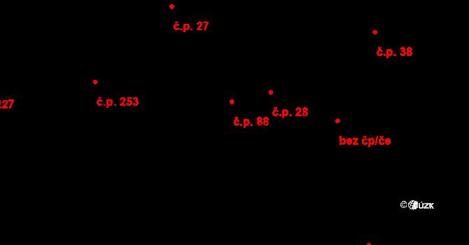 Pohled 88 na parcele st. 62/2 v KÚ Pohled, Katastrální mapa