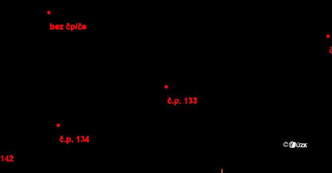 Studánka 133 na parcele st. 173 v KÚ Studánka u Tachova, Katastrální mapa