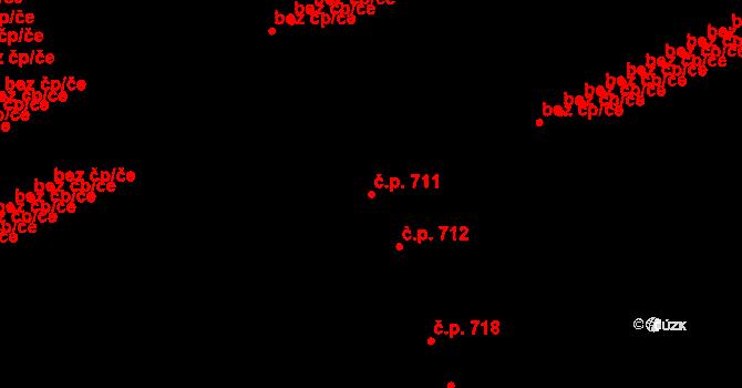 Doubravka 711, Plzeň na parcele st. 2221 v KÚ Doubravka, Katastrální mapa