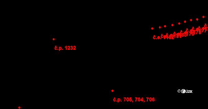 Malenovice 704,705,706, Zlín na parcele st. 989 v KÚ Malenovice u Zlína, Katastrální mapa