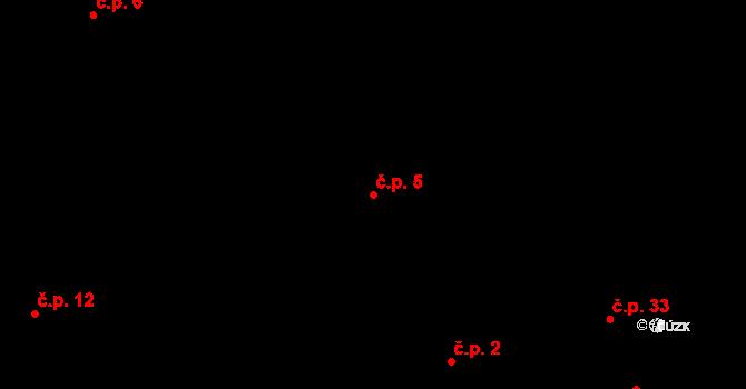 Běšiny 5 na parcele st. 67 v KÚ Běšiny, Katastrální mapa