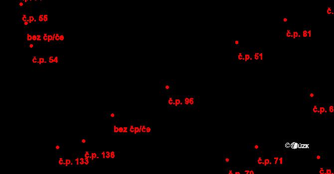 Měrovice nad Hanou 96 na parcele st. 371/1 v KÚ Měrovice nad Hanou, Katastrální mapa