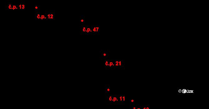 Sedlejov 21 na parcele st. 11/1 v KÚ Sedlejov, Katastrální mapa