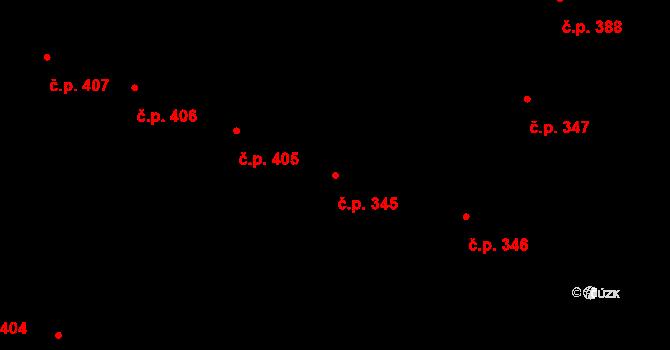 Bubeneč 345, Praha na parcele st. 858 v KÚ Bubeneč, Katastrální mapa