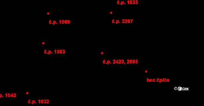 Jižní Předměstí 2423,2693, Plzeň na parcele st. 10007 v KÚ Plzeň, Katastrální mapa