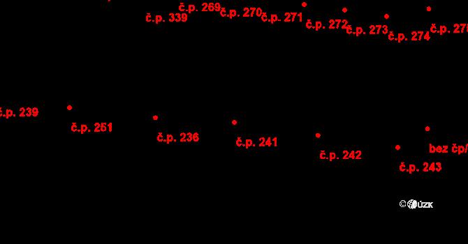 Jestřebí 241, Rájec-Jestřebí na parcele st. 735 v KÚ Jestřebí, Katastrální mapa