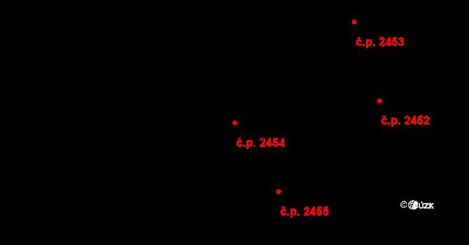 Rakovník II 2454, Rakovník na parcele st. 4498 v KÚ Rakovník, Katastrální mapa