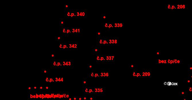 Nový Lískovec 337, Brno na parcele st. 708/17 v KÚ Nový Lískovec, Katastrální mapa