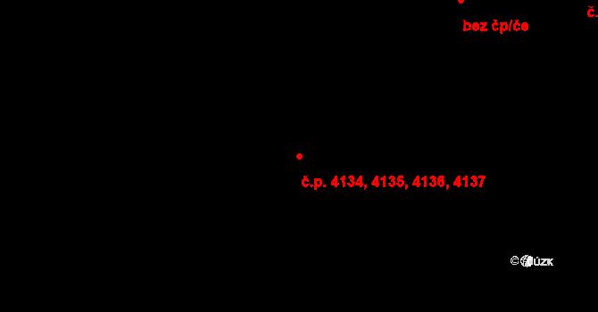 Prostějov 4134,4135,4136,4137 na parcele st. 5295/4 v KÚ Prostějov, Katastrální mapa