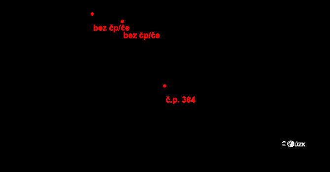 Dvory 384, Karlovy Vary na parcele st. 343/3 v KÚ Dvory, Katastrální mapa