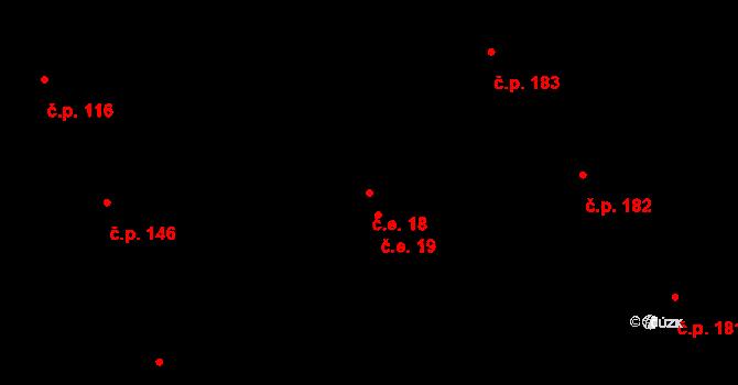 Medlov 18 na parcele st. 455/14 v KÚ Medlov, Katastrální mapa