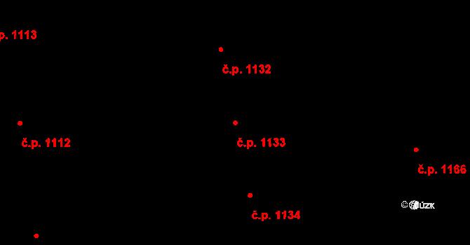 Holice 1133 na parcele st. 2019/17 v KÚ Holice v Čechách, Katastrální mapa