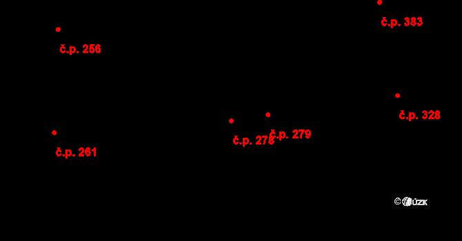 Mladcová 278, Zlín na parcele st. 471 v KÚ Mladcová, Katastrální mapa