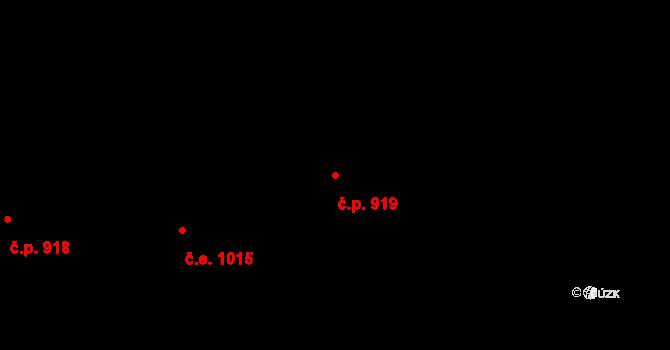 Malenovice 919, Zlín na parcele st. 1299 v KÚ Malenovice u Zlína, Katastrální mapa