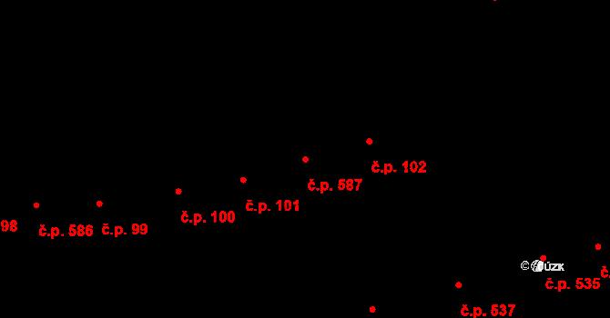 Kladno 587 na parcele st. 4918 v KÚ Kladno, Katastrální mapa