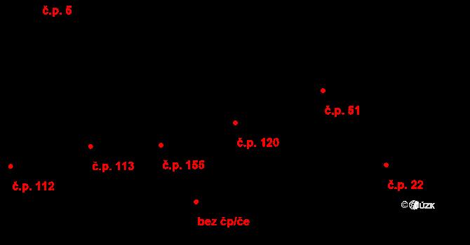 Karlín 120, Praha na parcele st. 48 v KÚ Karlín, Katastrální mapa