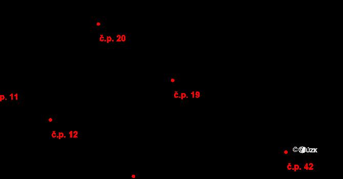 Kanovsko 19, Vlkoš na parcele st. 40/1 v KÚ Kanovsko, Katastrální mapa