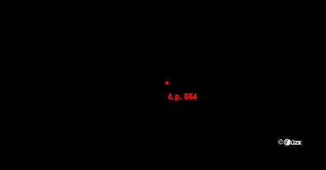 Povel 554, Olomouc na parcele st. 975 v KÚ Povel, Katastrální mapa