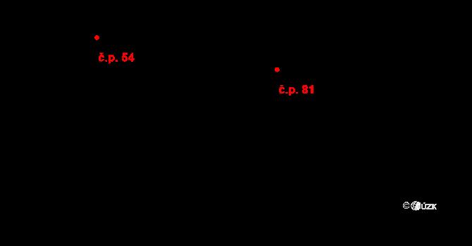 Leskovec nad Moravicí 81 na parcele st. 58/3 v KÚ Leskovec nad Moravicí, Katastrální mapa