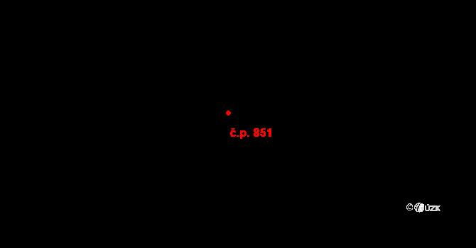Vysočany 851, Praha na parcele st. 1898/4 v KÚ Vysočany, Katastrální mapa