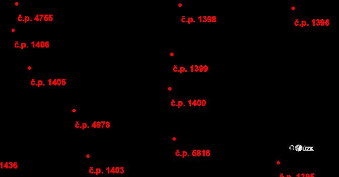 Jihlava 1400 na parcele st. 2879 v KÚ Jihlava, Katastrální mapa